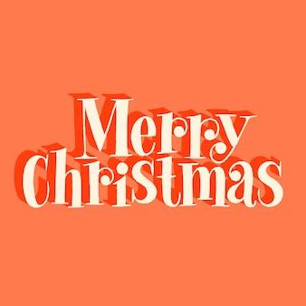 Merry christmas handgetekende belettering offerte voor kersttijd