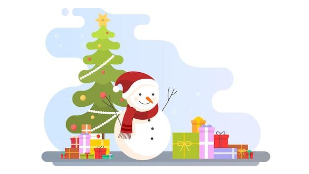 Merry christmas illustratie achtergrond