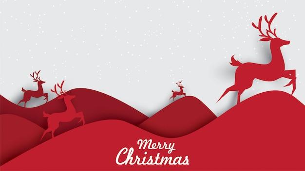 Merry christmas illustratie van rendieren