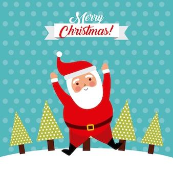 Merry christmas jump santa claus grappig