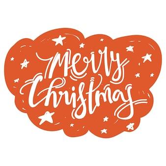 Merry christmas kalligrafie zin.