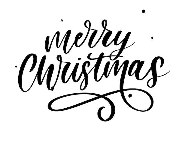 Merry christmas kalligrafische