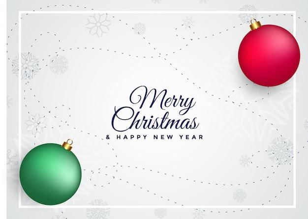 Merry christmas kleurrijke ballen achtergrond