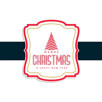 Merry christmas label ontwerp achtergrond