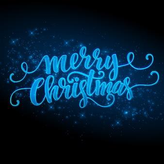 Merry christmas maakte een sterretje, wenskaart