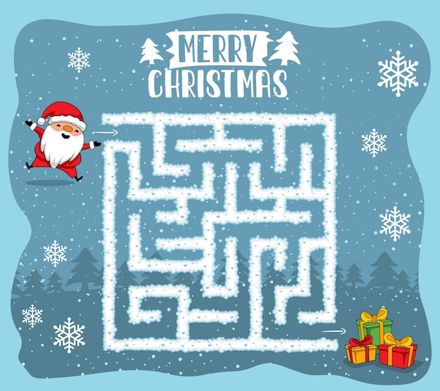 Merry christmas maze games labyrinth quiz