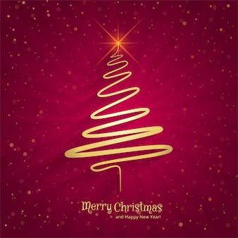 Merry christmas minimale lijn boom achtergrond