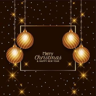 Merry christmas mooie decoratieve achtergrond