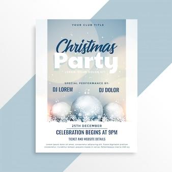 Merry christmas mooie partij ontwerp flyer sjabloon