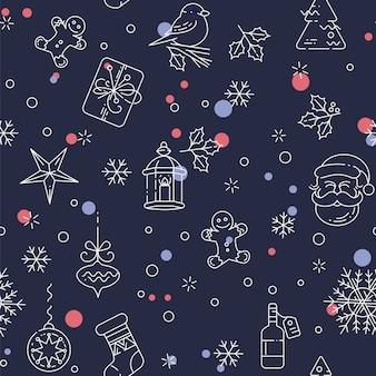 Merry christmas naadloos patroon.