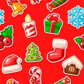 Merry christmas naadloze patroon