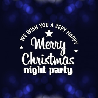 Merry christmas night party achtergrond