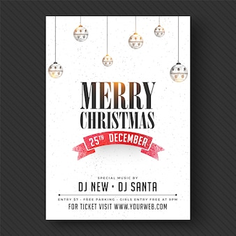 Merry christmas party banner of flyer ontwerp.