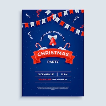 Merry christmas party lay-out poster sjabloon