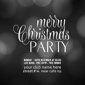Merry christmas party uitnodiging achtergrond