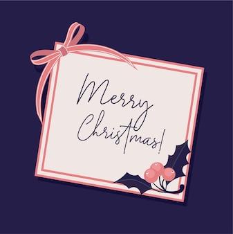 Merry christmas platte achtergrond