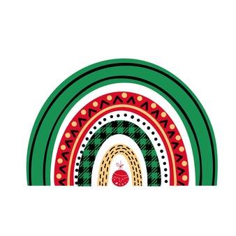 Merry christmas regenbogen geïsoleerd op een witte achtergrond