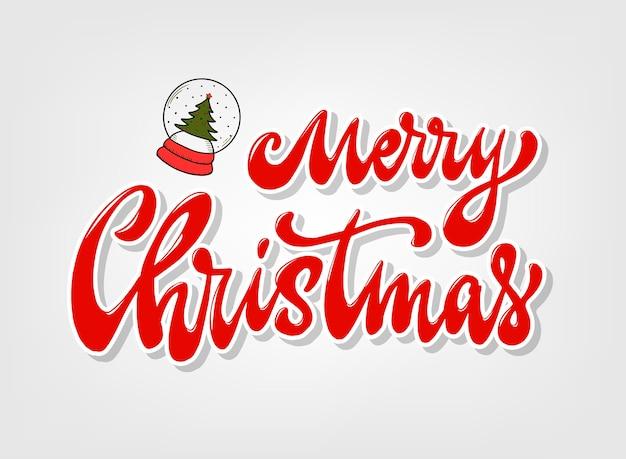 Merry christmas rode belettering offerte