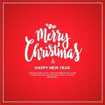 Merry christmas rode strepen achtergrond