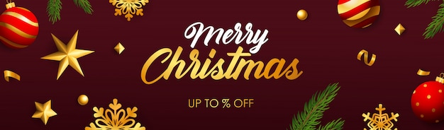 Merry christmas sale banner