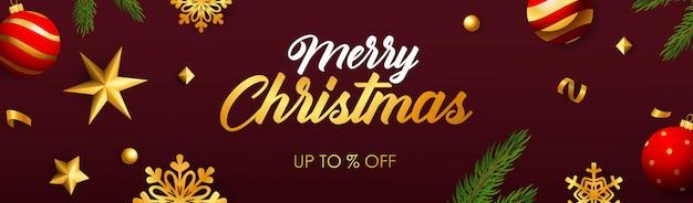 Merry christmas sale banner
