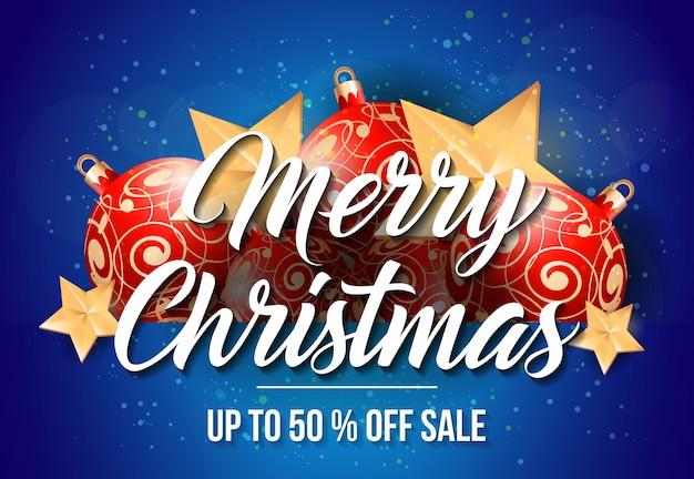 Merry christmas sale belettering
