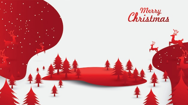 Merry christmas santa claus in de lucht