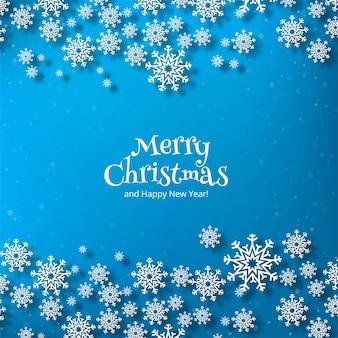 Merry christmas sneeuwvlok kaart winter achtergrond