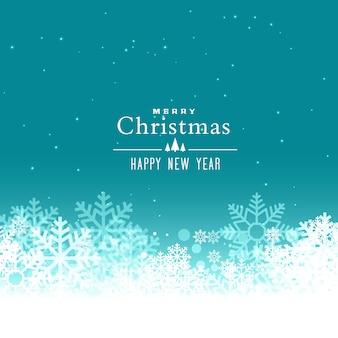 Merry christmas-sneeuwvlokken vector achtergrond