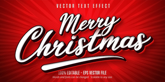 Merry christmas-teksteffect