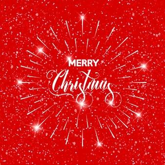 Merry christmas tekstkaartsjabloon.