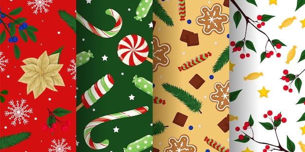 Merry christmas-texturen voor behang