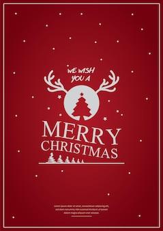 Merry christmas typografie posterontwerpwenskaart of uitnodiging en vakantie wensen