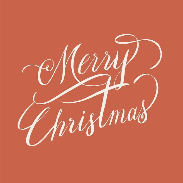 Merry christmas typografie stijl