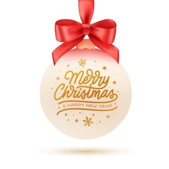 Merry christmas typografie