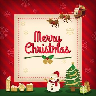 Merry christmas vakantie kaart achtergrond ontwerp