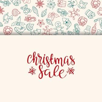 Merry christmas verkoop achtergrond. perfect decoratie-element voor kaarten, uitnodigingen en anderen