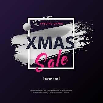 Merry christmas verkoop poster.