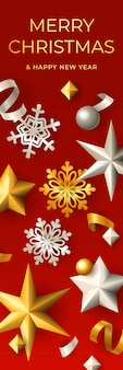 Merry christmas verticale banner