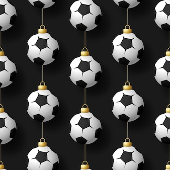 Merry christmas voetbal naadloze patroon.