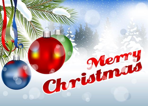 Merry christmas wenskaart achtergrond
