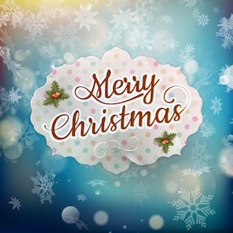 Merry christmas wenskaart. bestand opgenomen