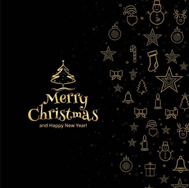Merry christmas wenskaart decoratieve achtergrond