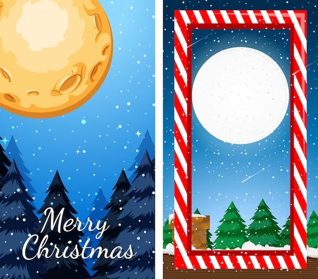 Merry christmas wenskaart illustratie