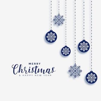 Merry christmas wenskaart met ballen decoratie