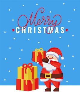 Merry christmas wenskaart met de kerstman