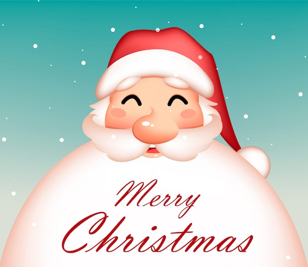 Merry christmas wenskaart met grappige santa