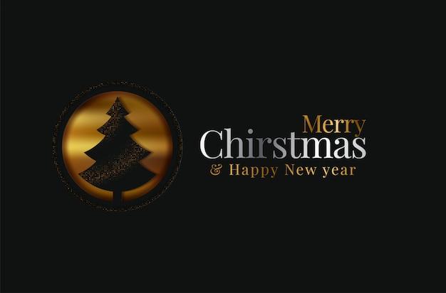Merry christmas wenskaart met kerstboom. origami. knip het ontwerp van de kunststijl uit