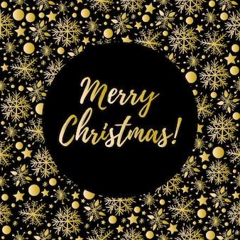 Merry christmas wenskaart met sneeuwvlokken, vector eps 10