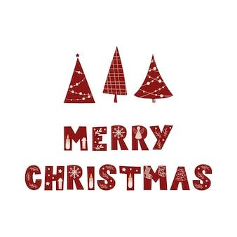 Merry christmas wenskaart ontwerp. vector illustratie.